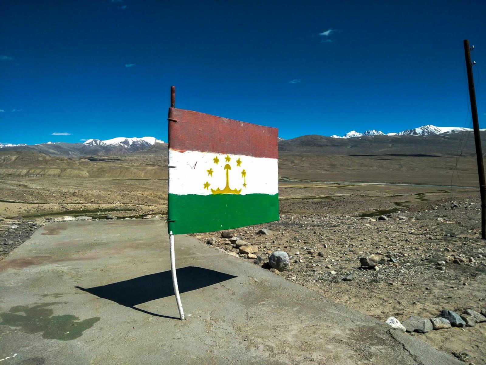 Vlag Tadzjikistan Pamir Highway