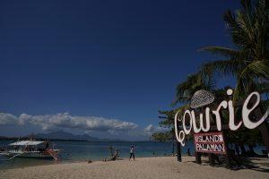 Cowrie island in honda bay