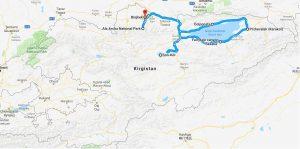 reisroute kirgizie