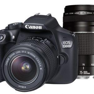 Canon EOS 1300D + 18-55mm DC III + 75-300mm III