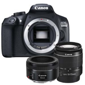 Canon EOS 1300D + 18-55mm DC III + 50mm F/1.8 STM