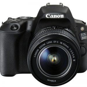 Canon EOS 200D zwart + 18-55mm DC III
