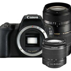 Canon EOS 200D zwart + 18-55mm DC III + Tamron 70-300mm Di LD Macro